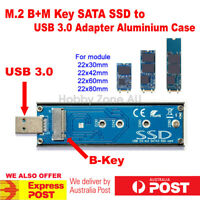 M.2(NGFF) B+M KEY SATA SSD to USB 3.0 Converter Adapter External Aluminium case