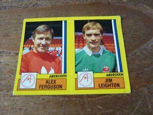 Alex Ferguson Panini Football Sticker - Aberdeen - 1987 - Football 87