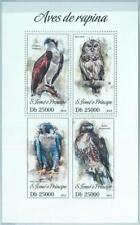 1620 - S TOME & PRINCIPE, ERROR, 2013, MISPERF SHEET: Birds of prey, Eagles