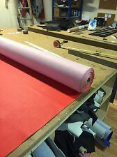 Heavy Grain Red Car Upholstery Vinyl Leather Look Material