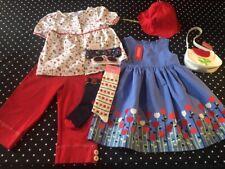 Vtg Gymboree Holland Days dress capri pants top purse hat hair 6 socks EUC NWT