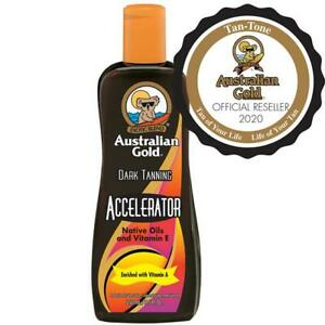 Australian Gold Dark Tanning Accelerator 250ml Sunbed Cream Lotion