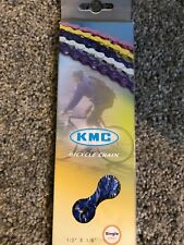 "KMC BLUE Z410 BMX BICYCLE BIKE CHAIN 1/2""X1/8"" race street BMX LOWRIDER CRUISER"