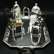 Braganti Silver Coffee Tea Set Tray Pots Sugar Bowl Creamer