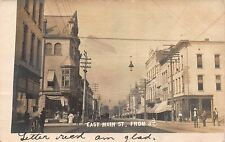 Real Photo Postcard East Main Street from Third in Washington, Indiana~112170