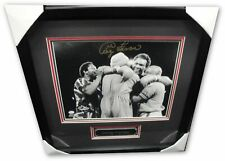 George Forman Hand Signed Autographed 11x14 Framed Photo Boxing Celebration OA