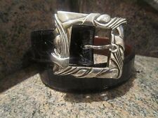 Rare!!! Kieselstein-Cord Sterling Art Deco/Classic Buckle with Alligator Belt