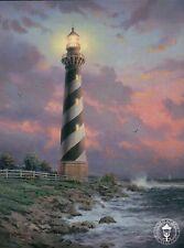 Cape Hatteras Light - North Carolina Lighthouse - Thomas Kinkade Dealer Postcard