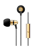 MEElectronics Crystal in-Ear Headphones with Microphone Swarovski Gold Crystals