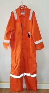 Walls FR Work Wear Orange Jumpsuit 56 Reg NFPA 70E 2112 New Coveralls Pockets