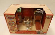 Rare Disney Pixar Mater Tow Yard Workshop Playset Wooden Cars - new