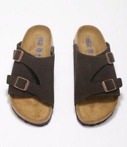 Birkenstock Zurich SFB Mocca Unisex Slide Sandals 1009531 Free FedEx Shipping