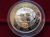 Australia. 1994  2oz - Silver Kookaburra.. King George V Gold Privy..  UNC/BU