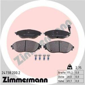 Bremsbelagsatz Scheibenbremse ZIMMERMANN 24738.200.2  24738.200.2 ZIMMERMANN