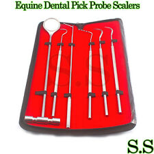 6 Pcs Equine Dental Pick Probe Scalers Veterinary Instruments * NEW* Kit