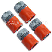 "4 × Quick Connector Snap On Fittings for Garden Water Tap Hose 1/2"" 12mm"