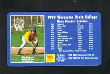 Worcester State Lancers--1999 Baseball Magnet Schedule