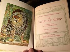 Rare Book 1899 Aesop's Fables Profusely Illustrated Henry Altemus Co. Excellent