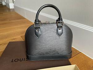 Louis Vuitton Alma bb Epi Leder anthrazit Full Set Tasche