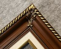 3.25 walnut brown Wood Antique Classic Picture Frame art gallery B1W 11x14@8