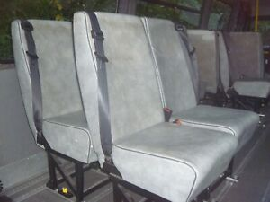 Rear Van Seats with seat belts And Unwin Tracking Fitments