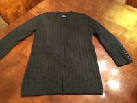 VERA WANG SIMPLY VERA  SWEATER DARK GRAY SIZE MEDIUM M WOMEN