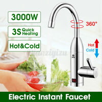 3000W 220V Instant Electric Water Heater Faucet Fast Heating Kitchen Home Tap