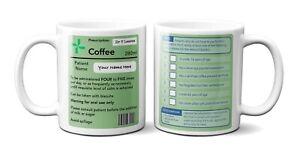 Personalised Funny Prescription Pharmacist Joke Coffee Tea Mug Gift 11oz Ceramic