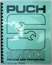 Puch Service Policies and Procedures 1980