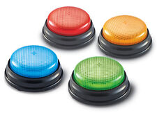 """Learning Resources Lights & Sounds Buzzers Set of 4 �€"""" NEW"""
