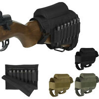 Adjustable Nylon Butt Stock Rifle Gun Cheek Rest Holder Bag Ammo Pouch F Hunting