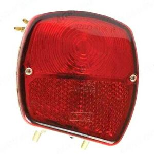 ROUND REAR FENDER LIGHT, LH, FOR FORD NH TRACTORS (various, see listing)
