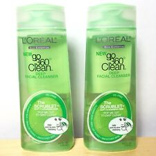 Lot Of 2 L'Oreal Go 360 Clean Deep Facial Cleanser - 6 Oz NEW Oil Free Face