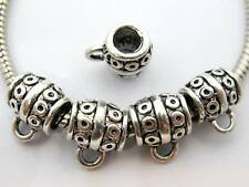 New Item! 30 pc Tibetan Silver Barrel Style Bail Beads For European Jewelry USA