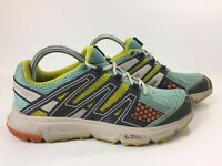 SALOMON XR Shift Women's Trail Running Shoes Blue Yellow Sneakers Size 8