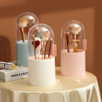 Makeup Storage Box Brush Holder Grooming Cosmetics Organizer With Pearls Plastic