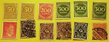 Germany Stamps Old Collection Estate Find Lot #3 12 stamps