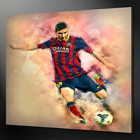 LIONEL MESSI CANVAS WALL ART PICTURE PRINT VARIETY OF SIZES FREE UK P&P