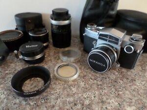 Miranda Sensorex 35mm Film Camera with lens, filters, cases