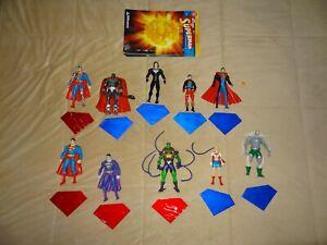 DC Direct Superman Action Figure & Accessories Lot of 10 figures!
