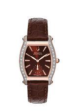 Bulova Accutron Women's 65R106 Saleya Diamond Bezel Quartz Brown 28mm Watch
