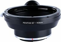 K&F Concept Lens Mount Adapter for Pentax P67 PK67 SLR Lens to Nikon F AI Camera