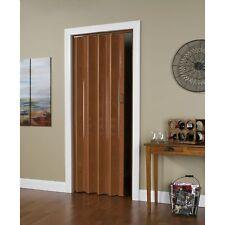 32 Inch x 80 Inch Folding Door in Pecan Brown 32x80
