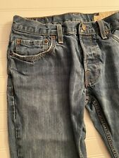 Hollister Auth Denim Boomer Jeans Mens 31x32 Low Rise Slim Boot Cut Button Fly