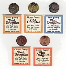 Dracula 5-Coin Set Custom Made by Shire Post Mint 10 Exist Vlad the Impaler
