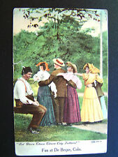Fun at De Beque CO Gol Darn Them There City Fellers! Postcard 1908