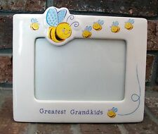 Picture Frame Greatest Grandkids Bumblebees Nice Grandparents Gift Ceramic CUTE