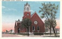 Postcard Zion Lutheran Church Manheim PA