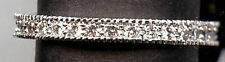 925 STERLING SILVER & 2/3 CT SIGNITY CZ ETERNITY ANNIVERSARY WEDDING BAND 7
