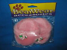 Bear Shoes-Pink Fuzzy Slippers Made By Bearwear Accessories-New In Package
